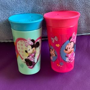 NWOT 2 Minnie Mouse 360 cups